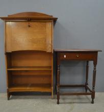 Early 20th century oak student's desk an