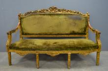 19th century French gilded canapé sofa s