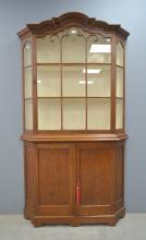 Oak display cabinet, 200cm high, 106cm w