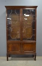 Early 20th century mahogany and glazed b