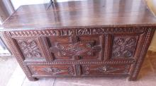 18th century oak mule chest