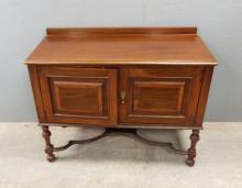 Early 20th century mahogany and crossban