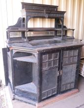 19th century ebonized draftsman's desk