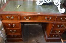 Yewwood pedestal desk