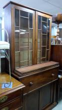 19th century mahogany secretaire bookcas