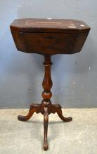 Late 19th century mahogany worktable wit