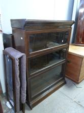 Two oak sectional bookcases,