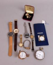 Collection of nine wristwatches and two