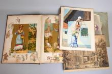 A group of Ephemera and watercolours to