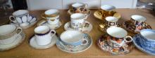 Two Royal Crown Derby cabinet cups and s