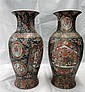 Pair of large Chinese vases 18.5