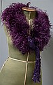 1930's purple ostrich feather shrug