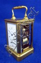 Brass and four glass repeating carriage clock,