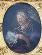 After G.Dou, 20th century copy, Rembrandt's Mutter, oil on panel in gilt frame