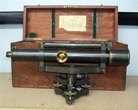 Early 20th century surveyor level No. 272, from West & Partner of Westminster,