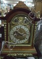 19th century oak cased mantel clock
