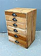 Edwardian pine chest with six graduated long drawers