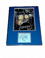 Roger Taylor - Drummer for Queen - Mounted Display