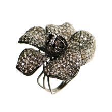 18k White Gold, Chocolate Brown Diamond Ring