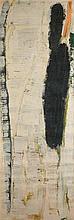 Olivier Debré (1920-1999) Personnage étroite, oil on canvas signed titled located Paris 1961- 213 x 74 cm