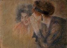 Lucien LEVY DHURMER (1865-1953), Confidence, Pastel