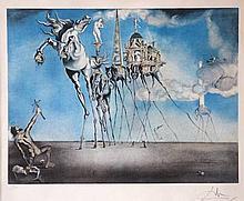 Salvador DALI (1904-1989)  Saint-Antoine, lithograph