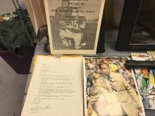 Extremely rare Bart Starr signed personalized letter with 8 x 10 autograph amazing peace