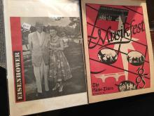 Vintage Eisenhower photo and Muskiest 1985 Program