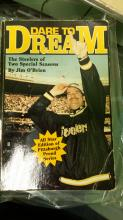 BOOK AUTOGRAPHED DARE TO DREAM THE STEELERS OF 2 SPECIAL SEASONS BY JIM O'BRIAN ALL STAR SEASON 1996