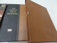 BOOK Lifes The Worlds Great Religions 1957 in a book box