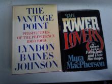 BOOK Lot The Vantage Point Perspectives of the Presidency 1963 to 1969 & The Power of Lovers the Intimate look at Politicians anf their marriages