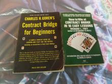 BOOK Lot of 2 Contract Bridge Beginners and How to win at Contract bridge in 10 easy lessons