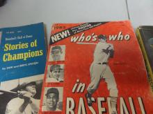 BOOKS lot of 3 1965 who's who in Baseball, Relief pitcher, Stories of champions