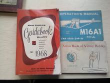 Book Lot Guide Book To Metal Finishing for 1968, Operator's Manual May 1975 M16A1 Rifle, Arrow Book Of Science Riddlesby Rose Wyler
