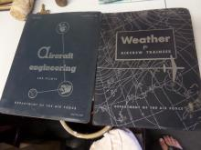 BOOKS Aircraft Engineering for Pilots AF 51-42 & Weather for Aircrew Trainees Dept. of the Air Force 1951 AFM 105-5