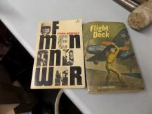 BOOKS lot of 2 Of Men and War, Flight Deck