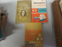 BOOKS lot of 3 Shakespear Autobiography, Benjamin Franklin, Americans hall Of fame 1 Brief Biographies of 46 Great Men and Women