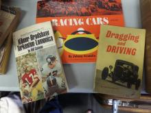 BOOKS lot of 3 Racing Cars, Dragging and Driving, Great QuarterBacks #2 Kilmer, Bradshaw, Tarkenton & lamonica