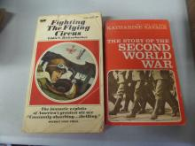 BOOKS lot of 2 Fighting the flying circus and The story of the Secon World War