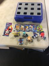 RARE Vintage Tech Deck Dude Lot with Skate Figure 6 Figures and Carry case