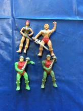 Vintage Masters of the Universe He Man Rubber Figure Lot of 4