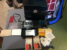 polaroid land camera 250 Camera Lot with Org. Case Manuals, Flash and so much more