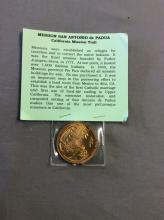 mission san antonio Depadua Coin Medallion