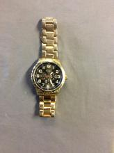 Relic Folio Men's Stainless Steel Gold Watch