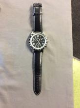 Geneva Platinum Men's Watch with an Unusual Dial