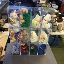Beanie Baby Doll lot of 12 with Cases