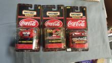 Coca Cola Matchbox Collectible lot of 3