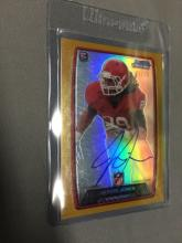 2013 Bowman Chrome Rookie Refractor Autograph Gold Jarvis Jones Steelers 47/75