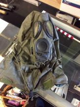 Vintage Army Gas Mask with Suit