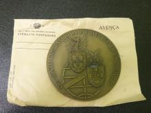 Sexto Centario Batalha De AjuBarrota 1385-1985 Medallion Medal in Portugese Ministry of defense envelope
